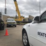 Seaton truck at construction site
