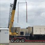 construction crane on site